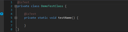 You can create a new test class using the template