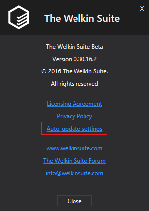 You change the auto-update settings of TWS anytime