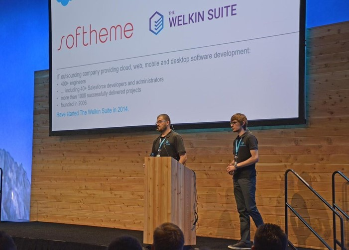Rustam and Vladimir presenting TWS at Dreamforce