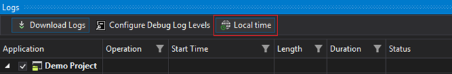 Local time for Debug Logs