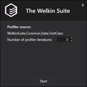 The Welkin Suite start profiling window