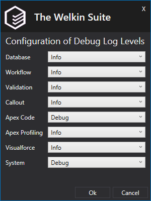 Configure debug log levels in TWS