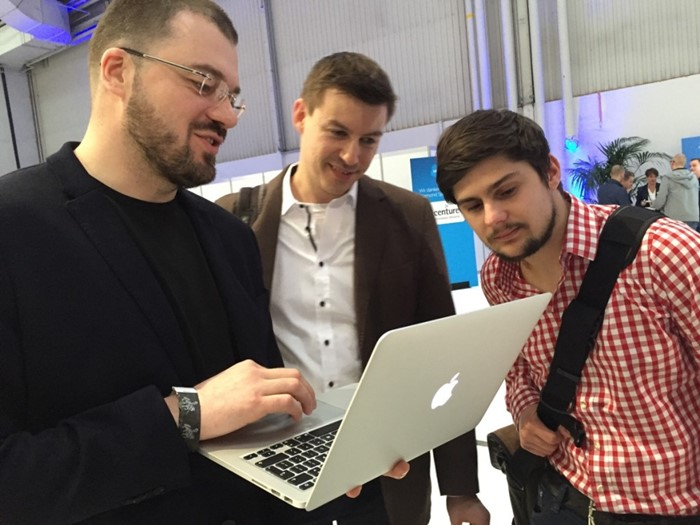 Showing Mac version at CeBIT