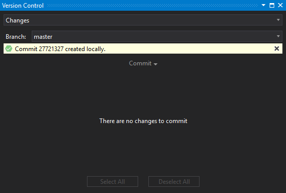 Commit created notification