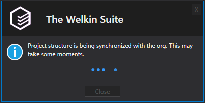 Project structure synchronization window