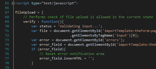 The Welkin Suite Javascript syntax highlighting in the Visualforce and Lightning files