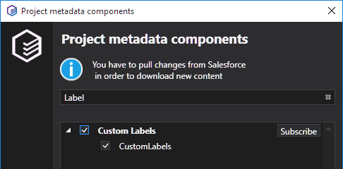 The support of the Custom Labels metadata is implemented in TWS