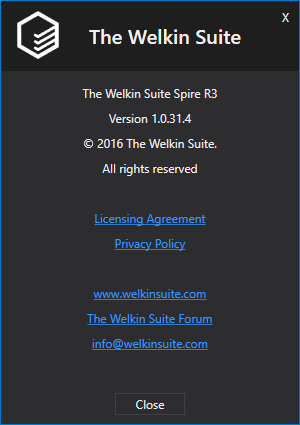 About The Welkin Suite with a name of a version