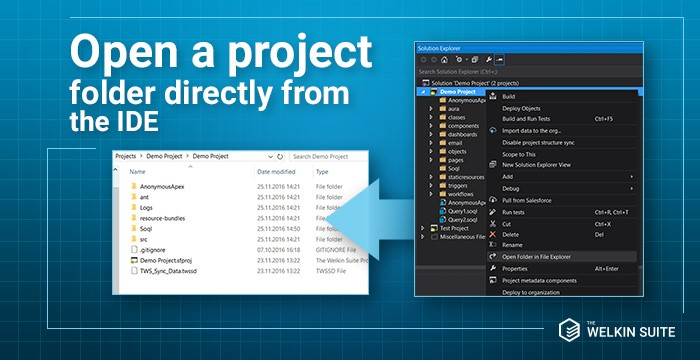 Project folder from TWS Solution Explorer