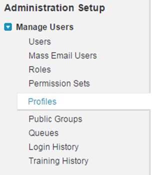 Managing Users' Profiles