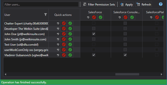 Ability to assign permission sets to user in TWS