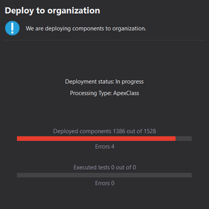 Colored progress bars for the deployment to another Org