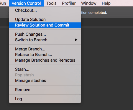 Git support as Version Control in TWS