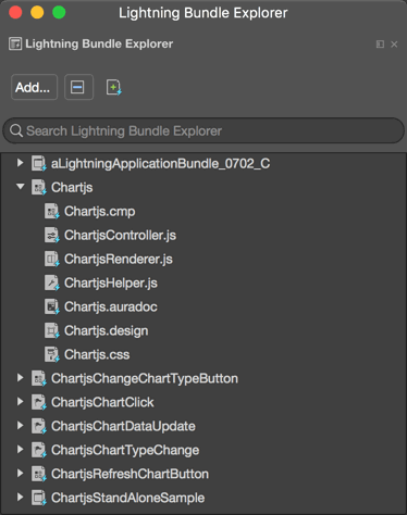 Lightning Bundle Explorer in the IDE
