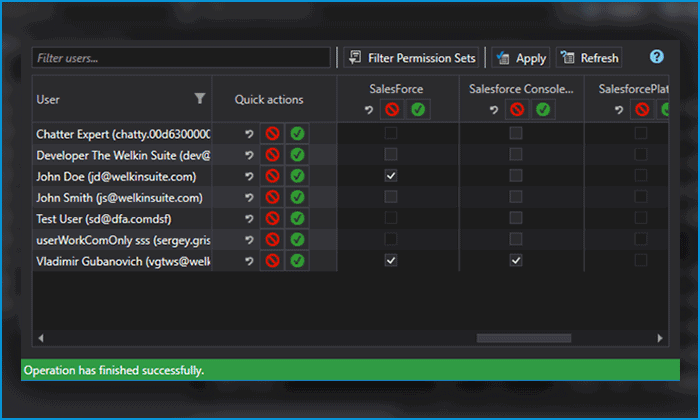 Manage the permission rights for users in the IDE