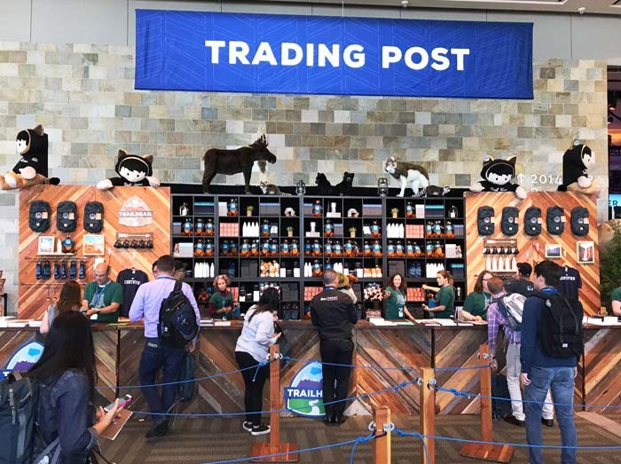 Trading post at TrailheaDX as a cetral corner for all
