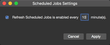 Automatically refreshing information about Salesforce Scheduled Jobs