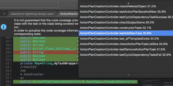 Apex Code Coverage highlighting separately by a unit test method