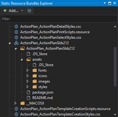 Static Resources Bundles Explorer