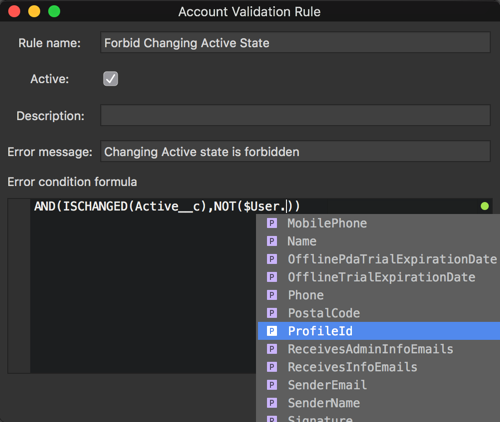 Creating a validation rule in The Welkin Suite with the code completion