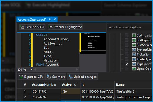 SOQL Query Builder and Data Editor