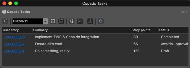 Copado user stories within The Welkin Suite