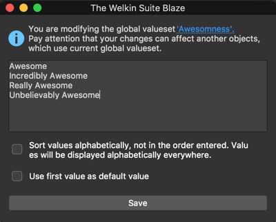 Editing Global Picklist Value Set in The Welkin Suite