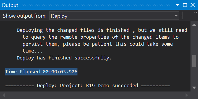 Incredibly fast deployment speed in The Welkin Suite IDE