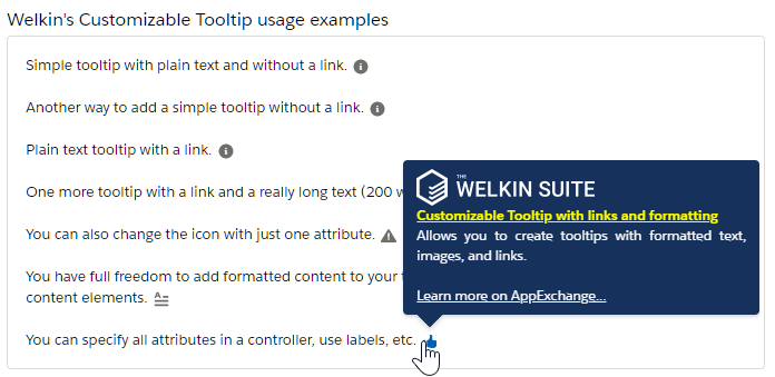 Free Welkin's Customizable Tooltip with links and formatting